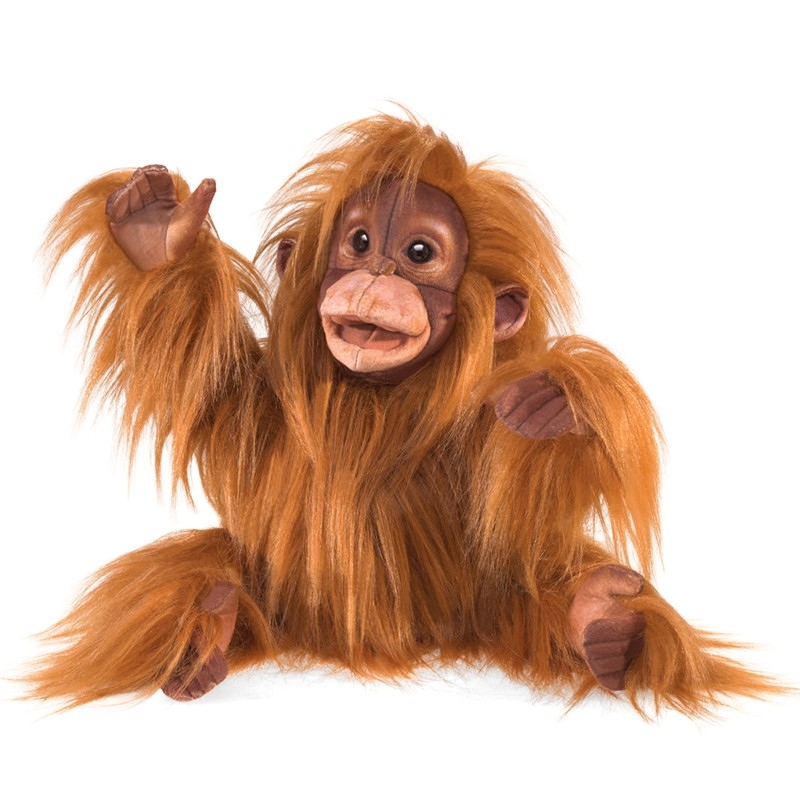 Baby Orangutan Puppet in Folkmanis Puppets Webwilds Series T 2590 for sale online